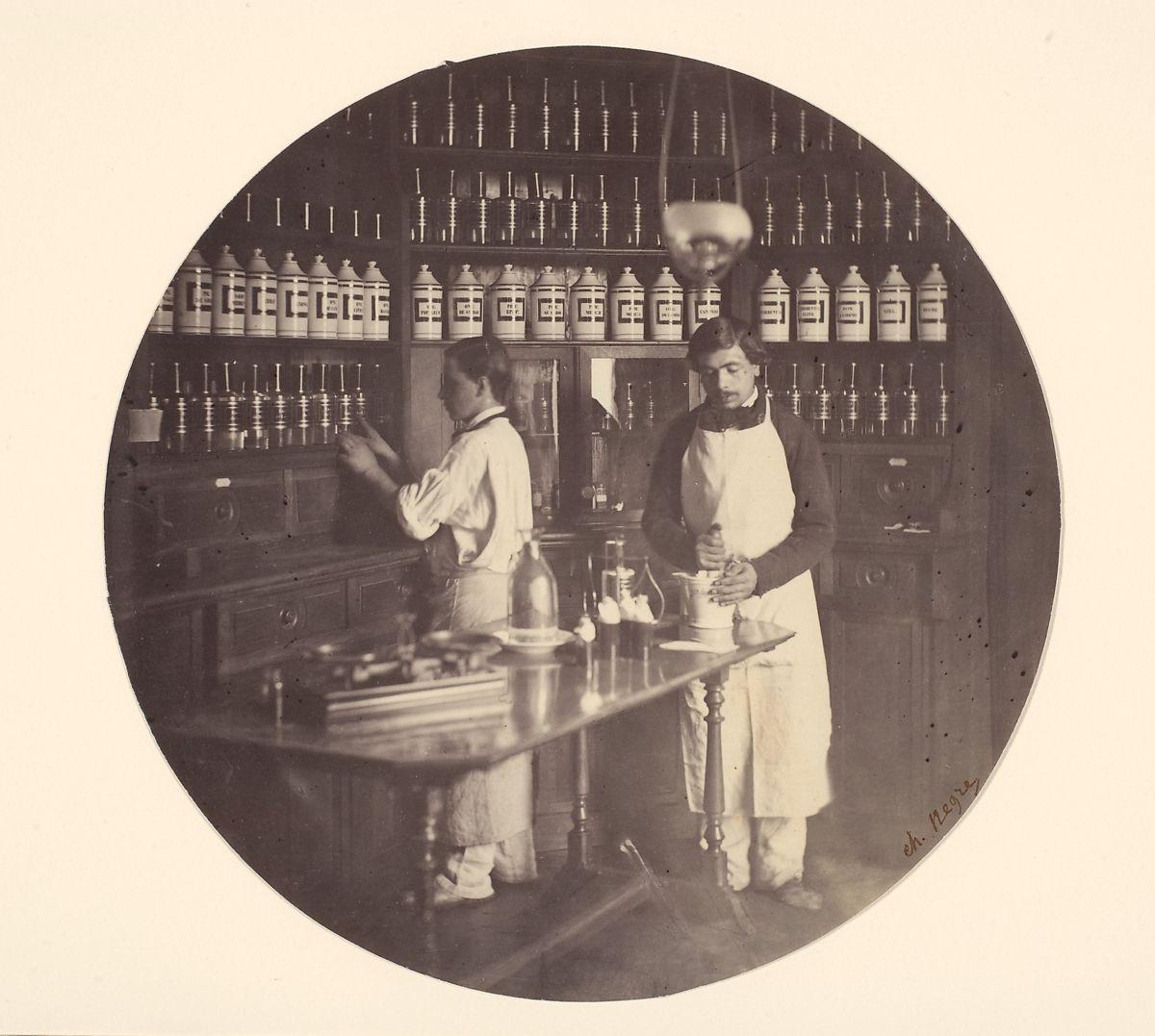 Charles Nègre | Asile Impériale de Vincennes, la pharmacie | The Met
