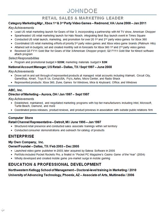 Sample Marketing Director Resume Marketing Manager Resume Free