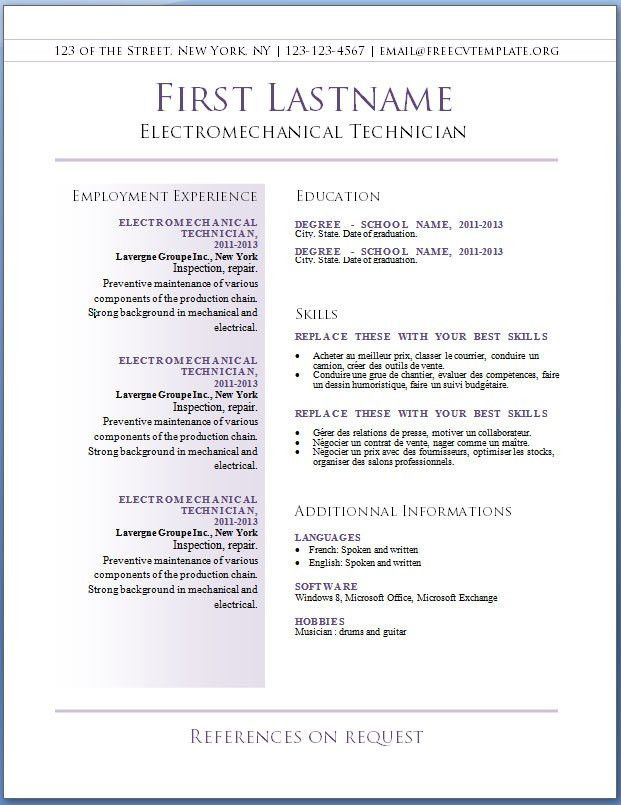 Resume Templates Free Mac 30 Resume Templates For Mac Free Word - mac pages resume templates