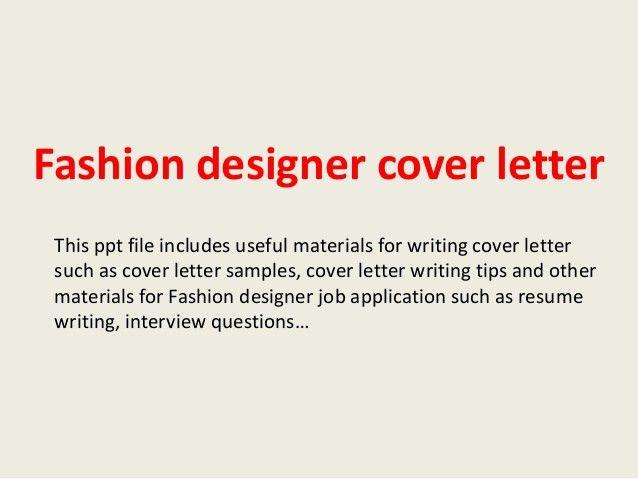 ... Fashion Designer Cover Letter Fashion Designer Cover Letter   Exhibit  Designer Cover Letter ...