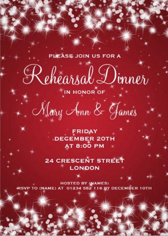 Christmas Dinner Invitations Templates Free Free Printable - dinner invitation template free