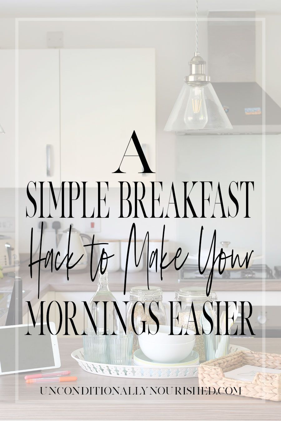 If your mornings are chaotic and breakfast is often skipped, check out this simple breakfast hack to make your mornings easier.