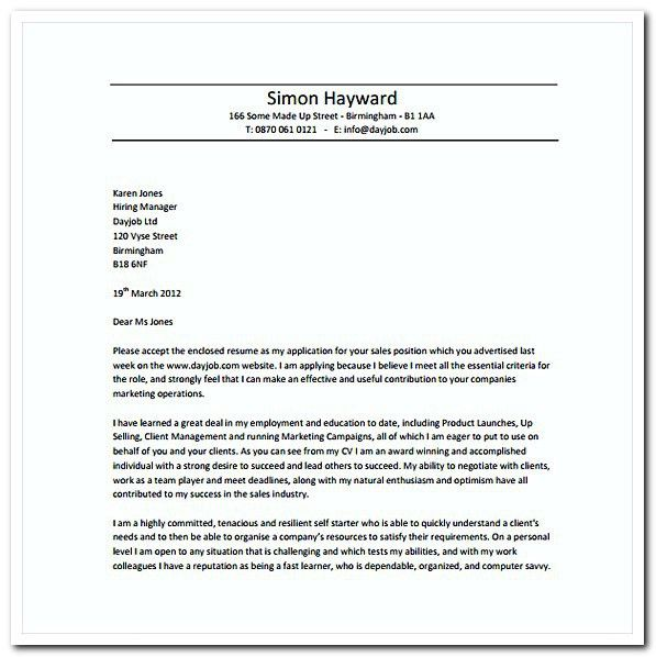 Sales Cover Letter Template Salesperson Marketing Cover Letters - sales cover letters