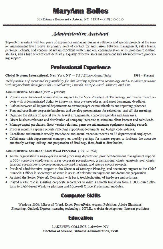 office administrator resume sample