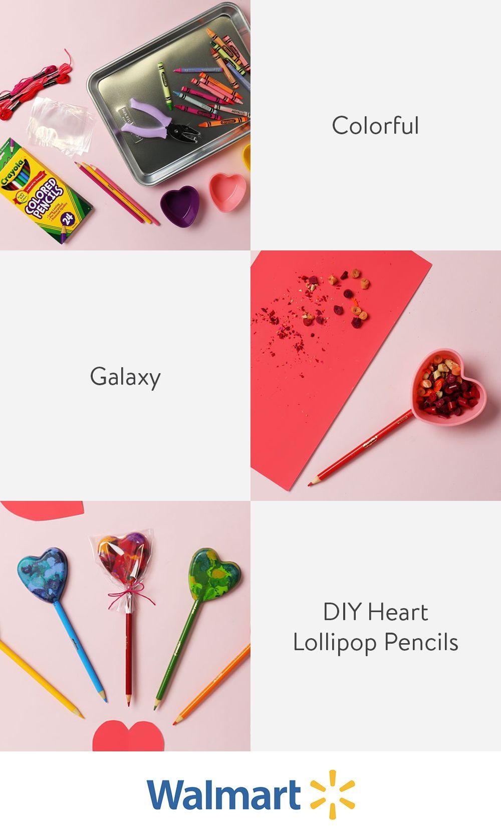 DIY Heart Lollipop Pencils