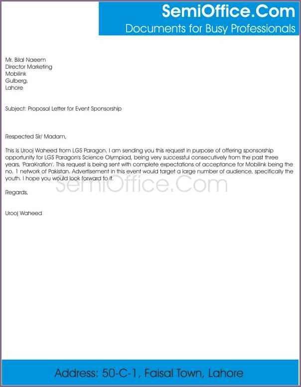 Writing A Sponsorship Proposal Letter Sponsorship Proposal Cover - event proposal letter