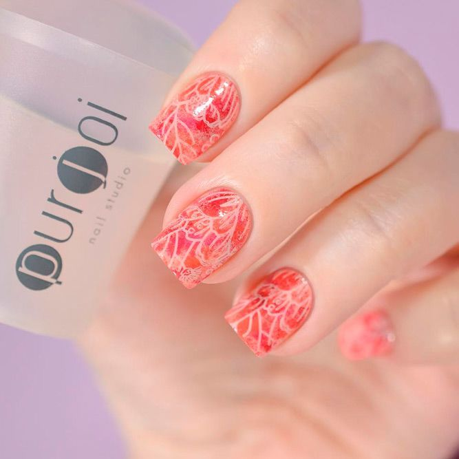 Bright Red Orange Shade For Bold Girls #brightnails #shortnails ★ Which summer nail colors do you prefer, bright or more neutral? Explore trendy nail designs for the summertime 2018.  #glaminati #lifestyle #summernailcolors