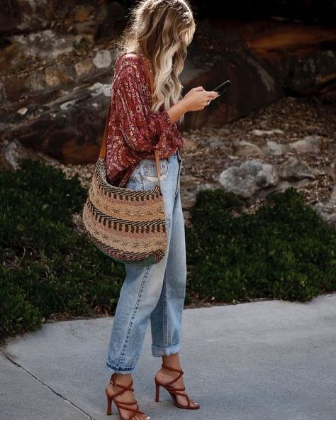 Chic and boho street look