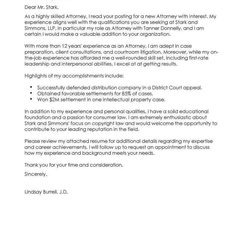 ... Attorney Sample Cover Letter Legal Cover Letter, Download Writing    Prosecuting Attorney Cover Letter ...