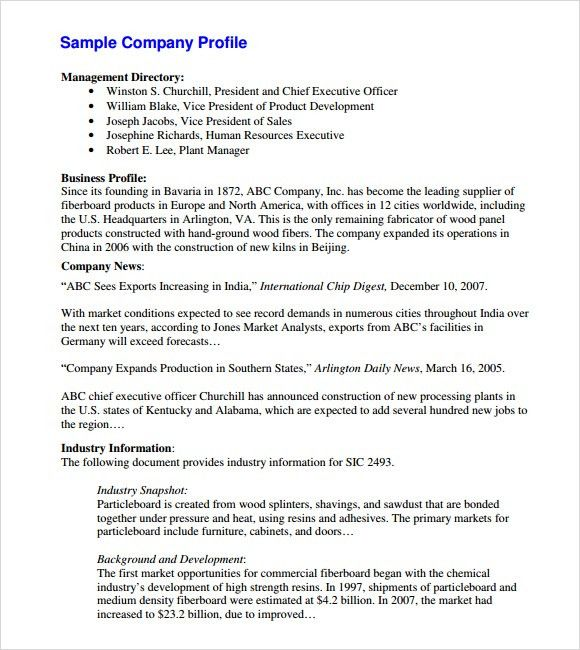 ... Best Business Profile Template Word Ideas   Resume Samples   Company  Profile Format ...  Company Business Profile Template