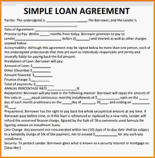 Free printable personal loan agreement printable agreements - free personal loan agreement form