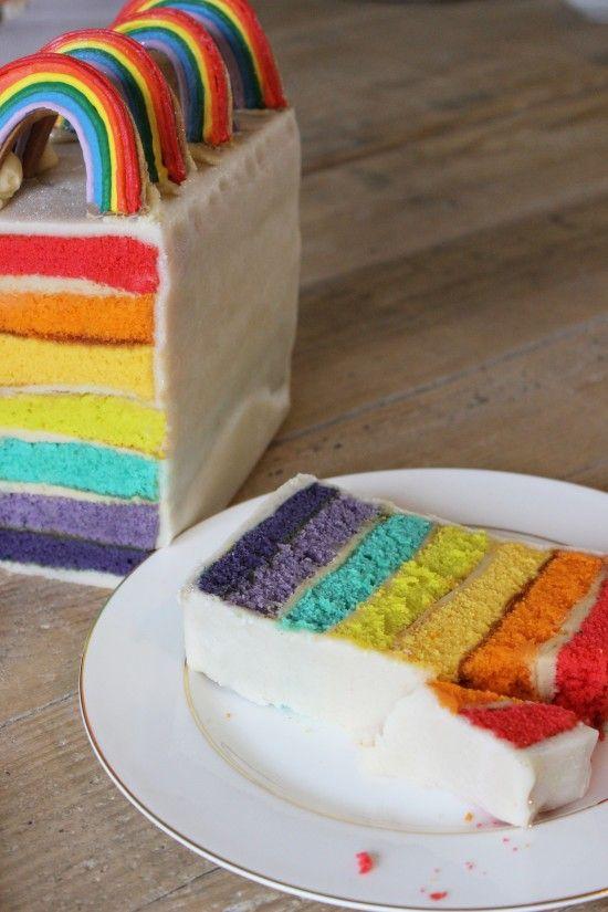Let's Bake rainbow Battenberg cake!   Biscuiteers