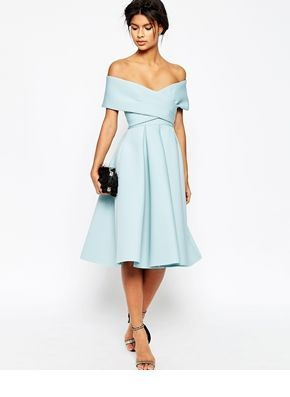 Romantic light blue dress