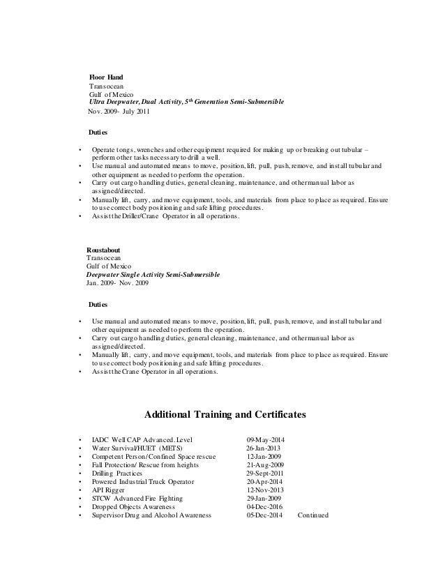 oilfield consultant resume