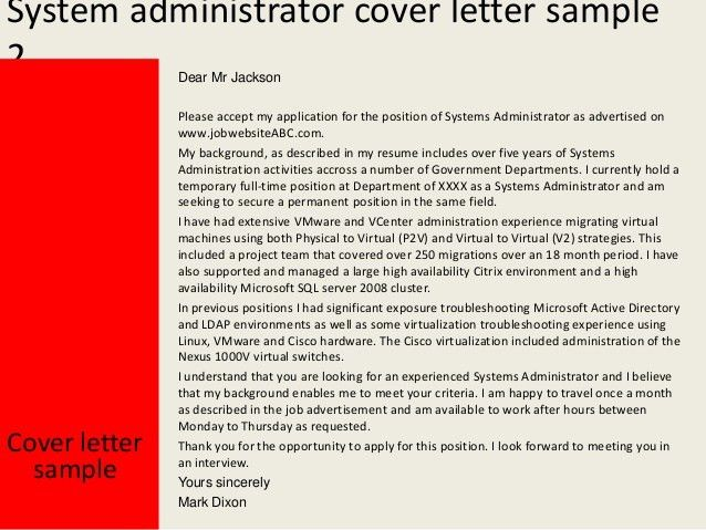 As400 administration cover letter