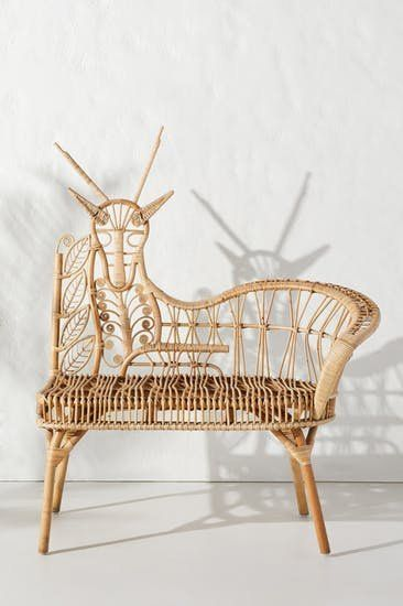 Our favorite pieces from Anthropologie summer 2019 home furniture collection, including this wicker bench.