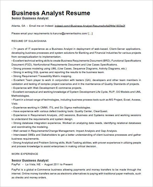 Healthcare Business Analyst Sample Resume Business Analyst Sample - sample business email