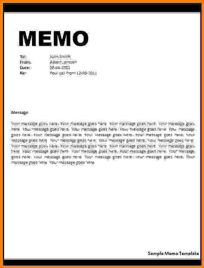 Formal Memorandum Template - Eliolera - formal memo template