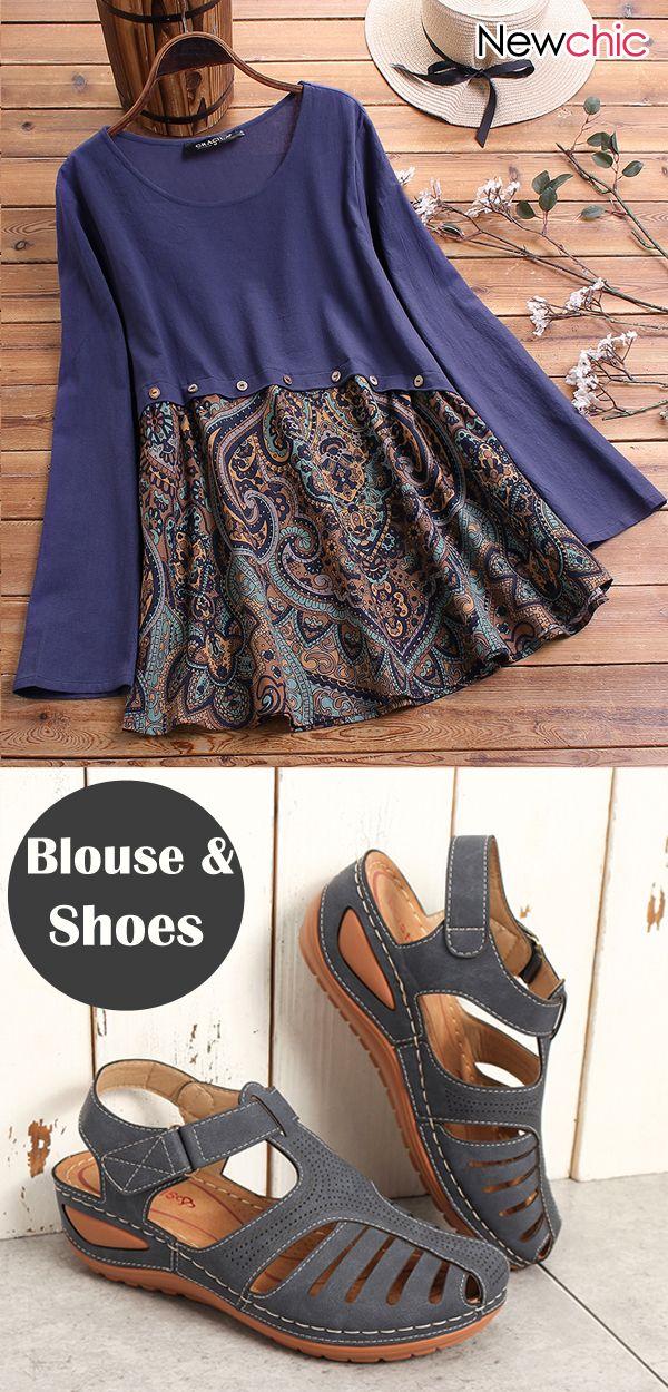 Long Sleeve Vintage Blouse