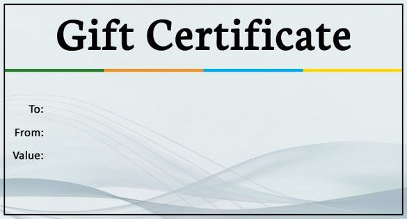 Free Template For Gift Certificate Custom Gift Certificate - free template gift certificate