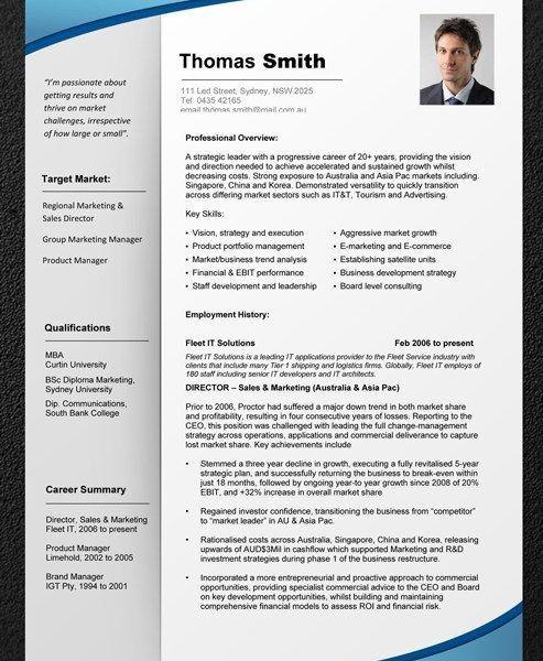 australian resume template env 1198748 resumecloud - Australian Resume Template