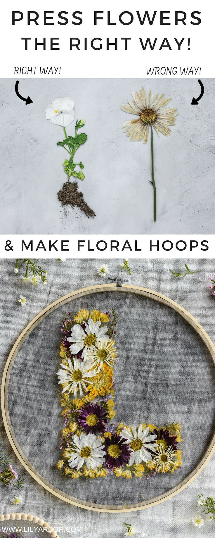Press flowers in 3 minutes - No color loss!