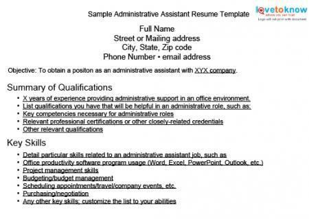 skills to list on resume for administrative assistant