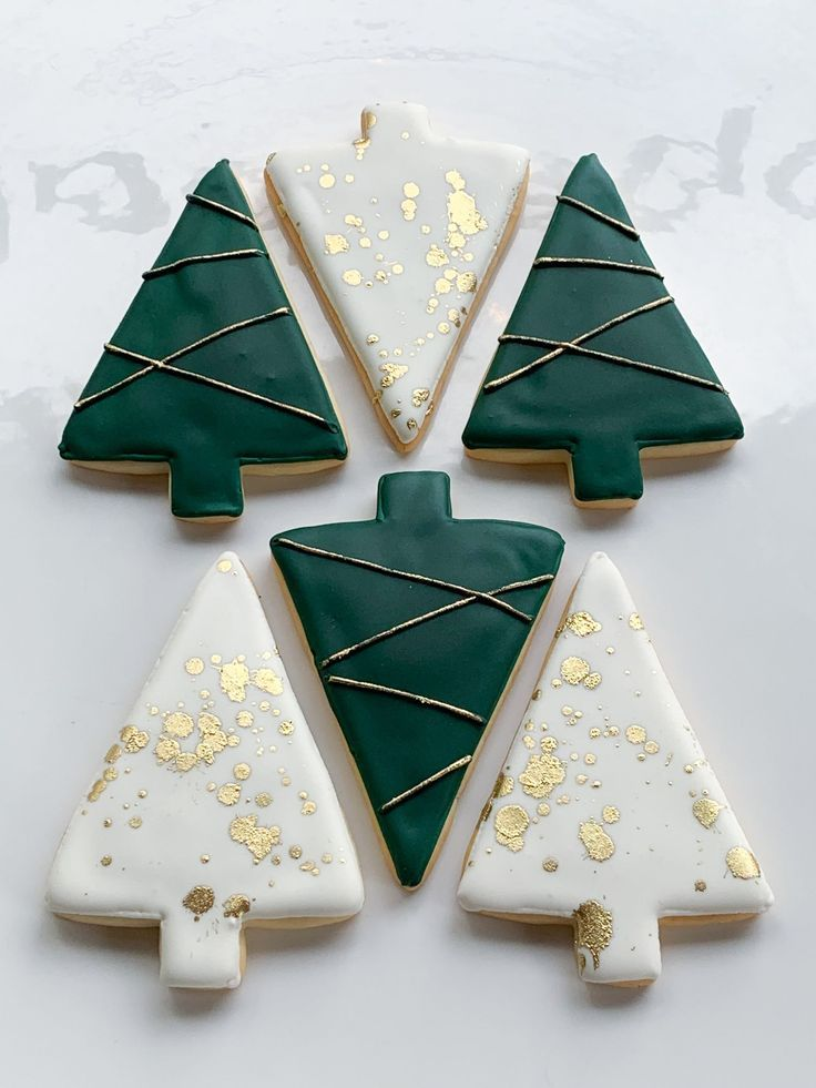 Whipped Bakeshop's decorated modern trees cookie collection! Inquire today at whippedbakeshop.com We ship our cookies across the United States
