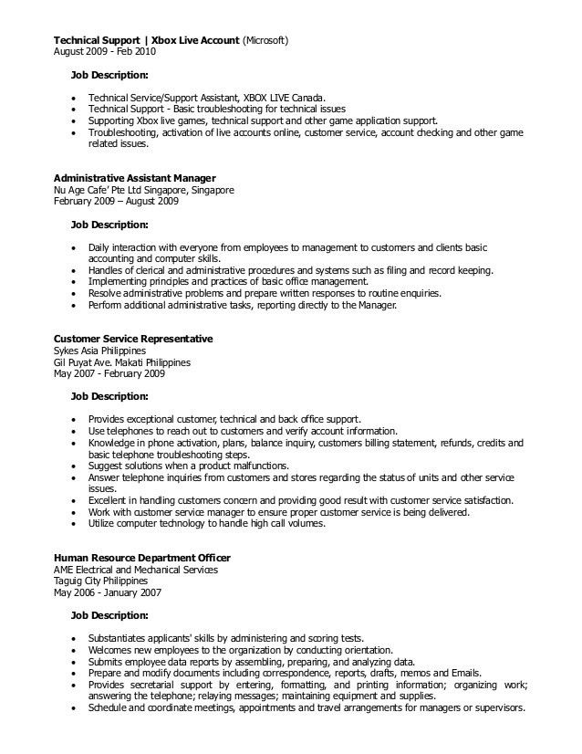 Lead Customer Service Representative Job Description Lead - customer service manager job description