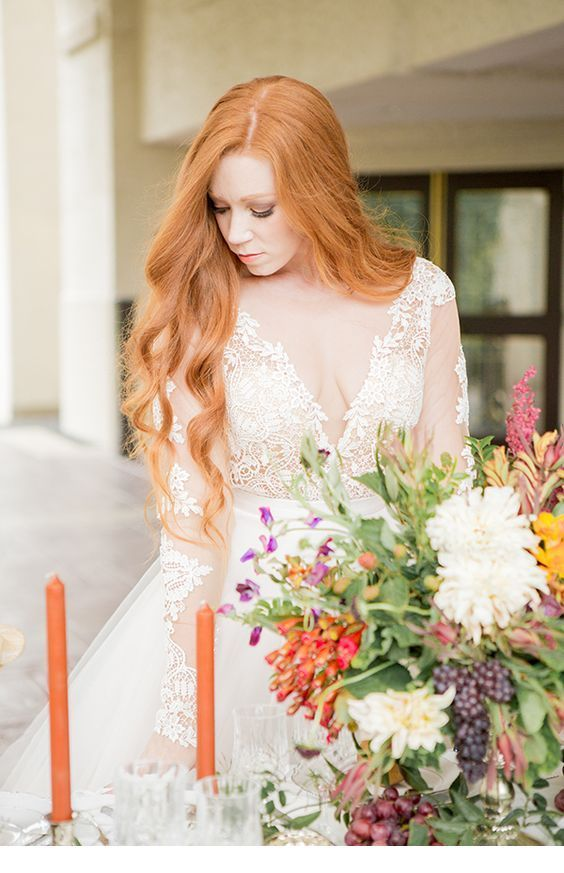 Red hair for wedding
