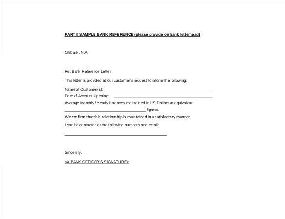 Reference Letter Template U2013 20+ Free Word, Excel, PDF Documents .  Bank Reference Letter Sample