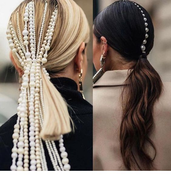 Pearls and ponytails