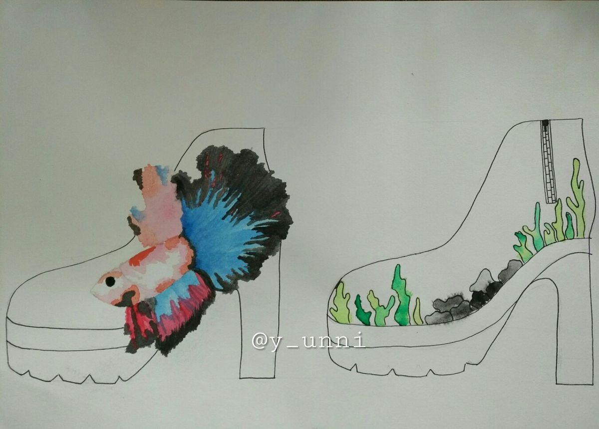 Design Betta Fish boots Marupakan desain sepatu boots ...