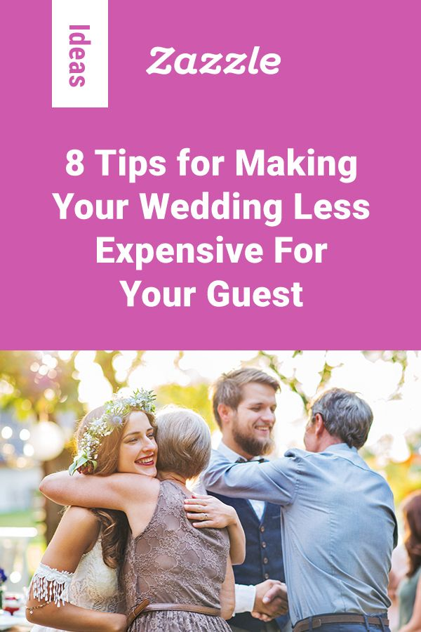 Finding an outfit, booking accommodation and transportation, buying a gift… attending a wedding can be an expensive business! Here's a few tips on how you can help ease the financial burden on your guests.
