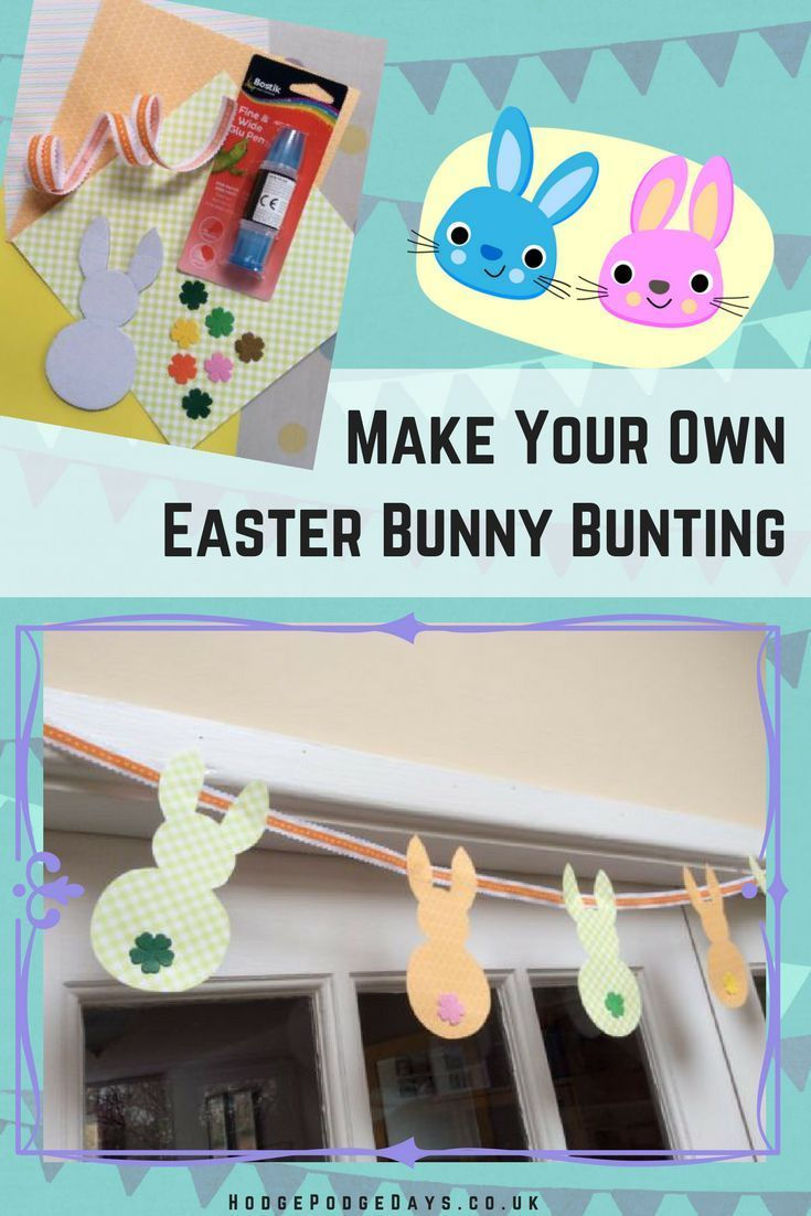 Craft Tutorial: How to make Easy Easter Bunny Bunting