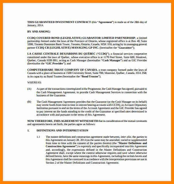 ... Investors Agreement Template Investors Agreement Investor   Investor  Agreement Template Free Management Contract ...  Business Investment Contract