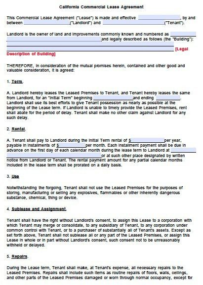 Lease Agreements Free Free Lease Rental Agreement Forms Ez - sample lease agreement form