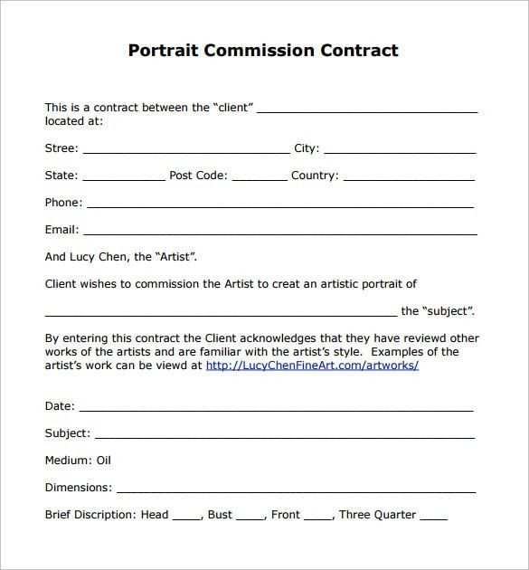 Investment Contract Template 9 Investment Contract Templates Free - commission contract template
