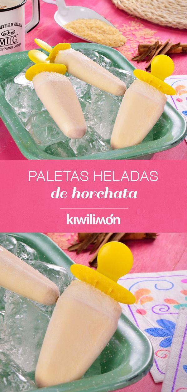 Paletas Heladas de Horchata