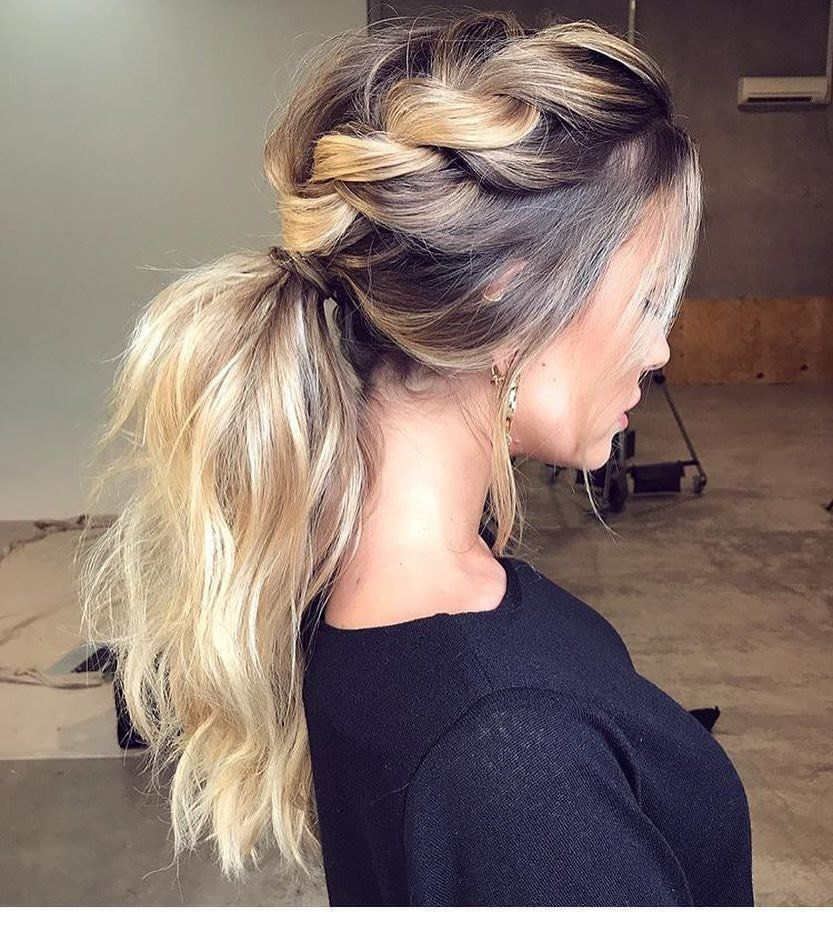 To bump up your hair texture, toss in a braid that you can wrap right into your go-to pony.