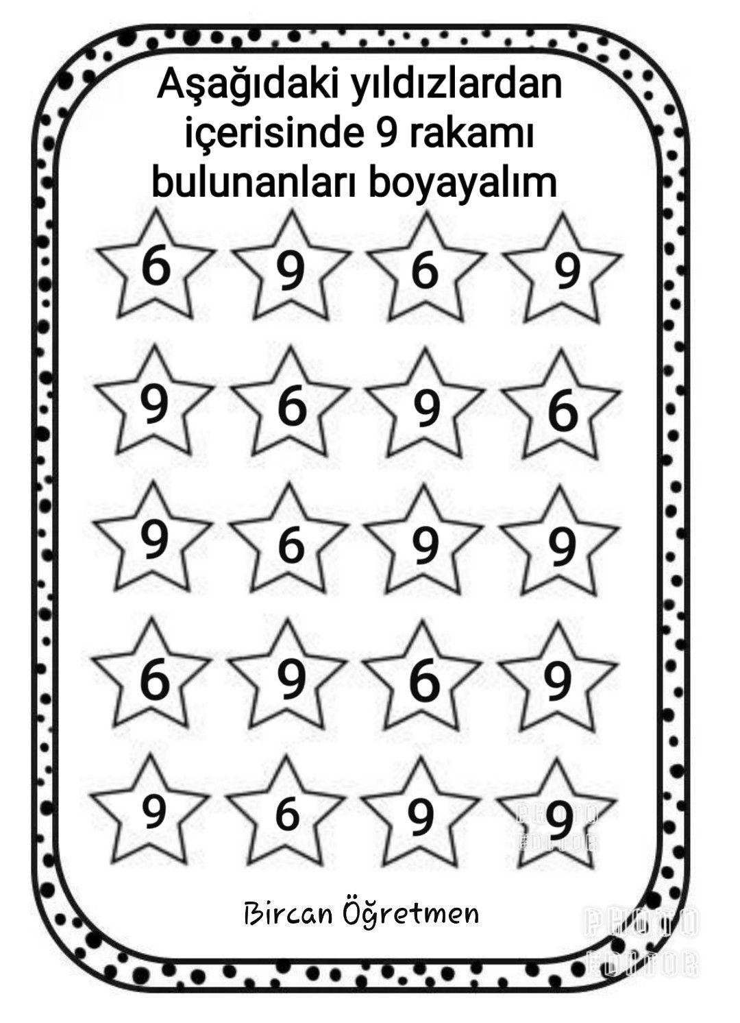9 Rakami Calismasi Ogretmen Klasoru Matematik Boyama Sayfalari