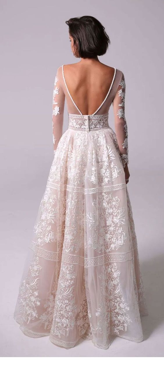 Dress with boho lace