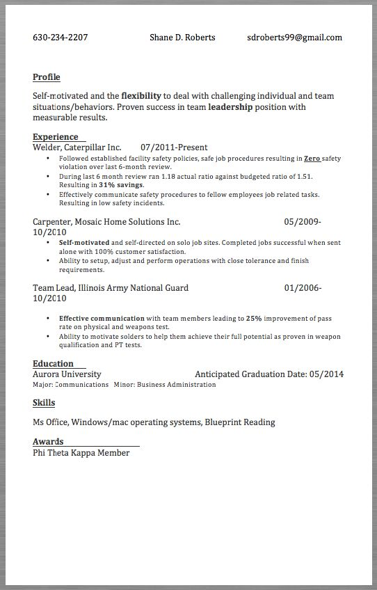 Unforgettable welder resume examples to stand out myperfectresume