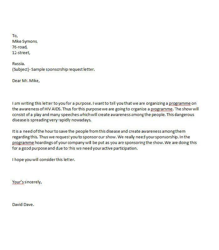 Sample Proposal Letter For Sponsorship Sponsorship Proposal - non profit proposal template