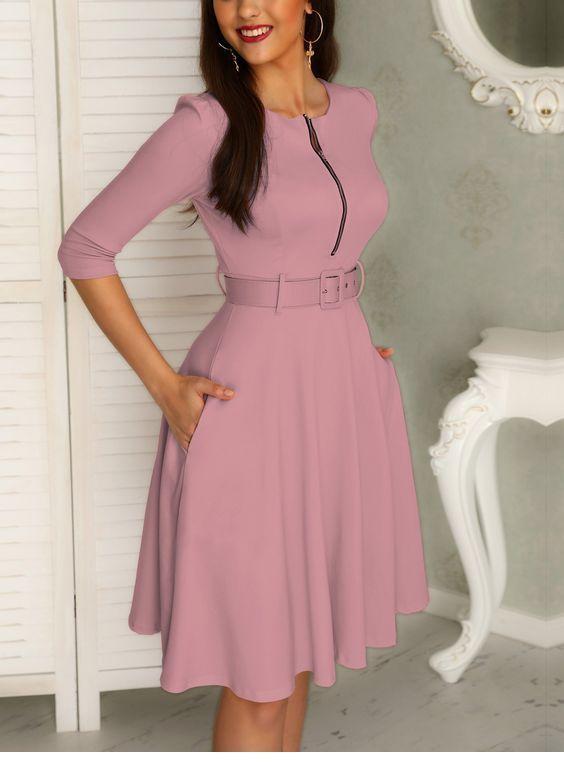Sweet purple retro style dress