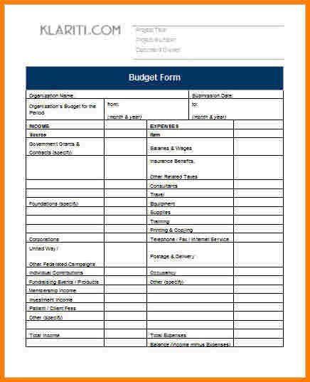 Budget Proposal Template Word Budget Proposal Template 9 Free - proposal template in word