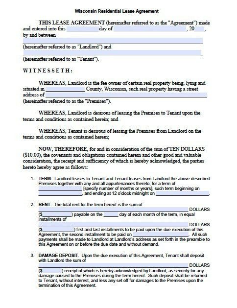 Texas Residential Lease Agreement free texas rental application – Sample Landlord Lease Agreement
