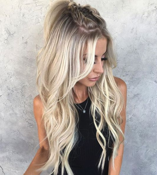 """Twisted Pretty 💕 by @hairby_chrissy w/ custom colored <a class=""""pintag"""" href=""""/explore/habithandtiedextensions/"""" title=""""#habithandtiedextensions explore Pinterest"""">#habithandtiedextensions</a> 