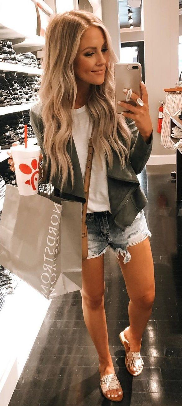 black jacket #summer #outfits