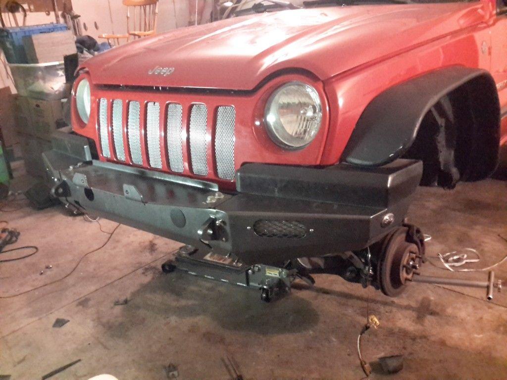 2004 Jeep Liberty, Rock Lizard front bumper Jeep liberty